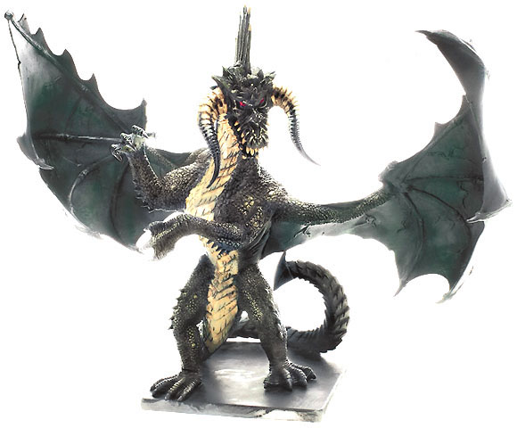 D&D Miniatures - Click to view the stats for Gargantuan Black Dragon Miniature