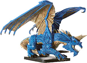 D&D Miniatures - Click to view the stats for Gargantuan Blue Dragon Miniature
