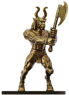 D&D Miniatures - Click to view the stats for Brass Golem Miniature