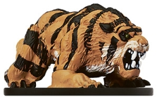 D&D Miniatures - Click to view the stats for Dire Tiger Miniature