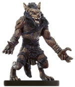 D&D Miniatures - Click to view the stats for Gnoll Claw Fighter Miniature