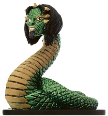 D&D Miniatures - Click to view the stats for Guardian Naga Miniature