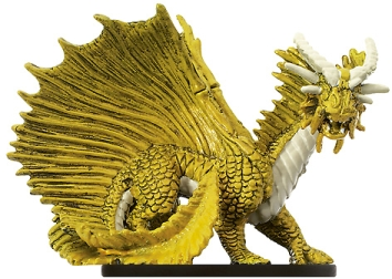 D&D Miniatures - Click to view the stats for Large Gold Dragon Miniature