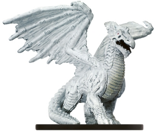 D&D Miniatures - Click to view the stats for Large White Dragon Miniature