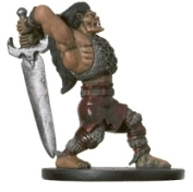 D&D Miniatures - Click to view the stats for Half-Ogre Barbarian Miniature