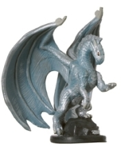 D&D Miniatures - Click to view the stats for Medium Silver Dragon Miniature