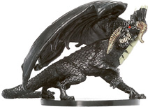 D&D Miniatures - Click to view the stats for Large Black Dragon Miniature