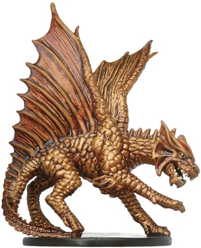 D&D Miniatures - Click to view the stats for Large Brass Dragon Miniature