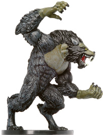 D&D Miniatures - Click to view the stats for Werewolf Lord Miniature