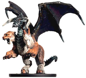 D&D Miniatures - Click to view the stats for Chimera Miniature
