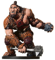 D&D Miniatures - Click to view the stats for Hill Giant Chieftan Miniature