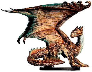 D&D Miniatures - Click to view the stats for Large Bronze Dragon Miniature