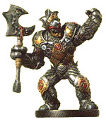 D&D Miniatures - Click to view the stats for Warforged Captain Miniature