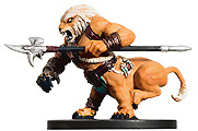 D&D Miniatures - Click to view the stats for Wemic Barbarian Miniature