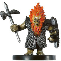 D&D Miniatures - Click to view the stats for Azer Fighter Miniature
