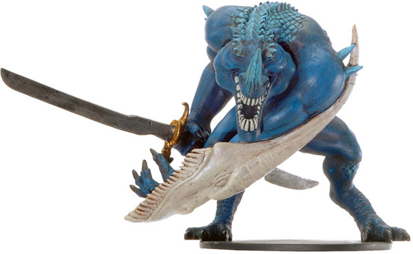 D&D Miniatures - Click to view the stats for Bluespawn Godslayer Miniature