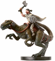 D&D Miniatures - Click to view the stats for Clawfoot Rider Miniature