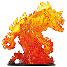 D&D Miniatures - Click to view the stats for Huge Fire Elemental Miniature