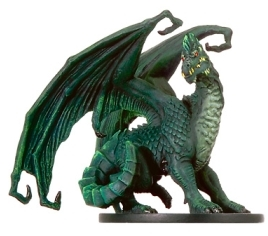 D&D Miniatures - Click to view the stats for Large Green Dragon Miniature