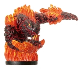 D&D Miniatures - Click to view the stats for Magma Hurler Miniature
