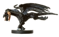 D&D Miniatures - Click to view the stats for Small Black Dragon Miniature