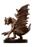 D&D Miniatures - Click to view the stats for Small Copper Dragon Miniature