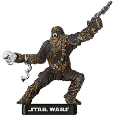 Star Wars Miniature - Chewbacca, Enraged Wookiee, #4 - Rare