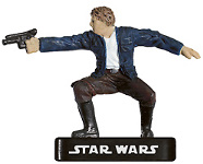 Star Wars Miniature - Han Solo, Rogue, #7 - Rare