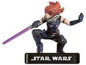 Star Wars Miniature - Mara Jade, Jedi, #37 - Rare