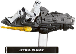 Star Wars Miniature - Stormtrooper on Repulsor Sled, #36 - Very Rare