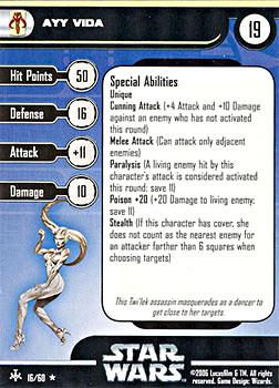 Star Wars Miniature Stat Card - Ayy Vida, #16 - Rare