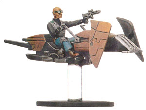 Star Wars Miniature - Dark Hellion Marauder on Swoop Bike, #26 - Uncommon