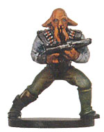 Star Wars Miniature - Quarren Bounty Hunter, #45 - Common