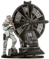 Star Wars Miniature - Hoth Trooper with Atgar Cannon, #43 - Rare