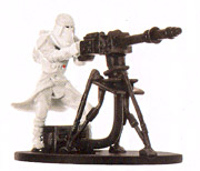 Star Wars Miniature - Snowtrooper with E-Web Blaster, #51 - Rare