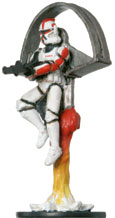Star Wars Miniature - Aerial Clone Trooper Captain, #2 - Rare