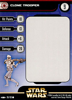 Star Wars Miniature Stat Card - Clone Trooper #6, #6 - Common