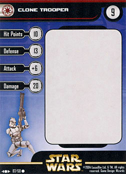 Star Wars Miniature Stat Card - Clone Trooper #7, #7 - Common