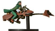 Star Wars Miniature - Commando on Speeder Bike, #4 - Very Rare