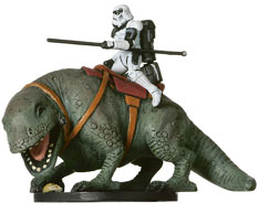 Star Wars Miniature - Sandtrooper on Dewback, #40 - Very Rare