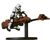 Star Wars Miniature - Scout Trooper on Speeder Bike, #34 - Very Rare