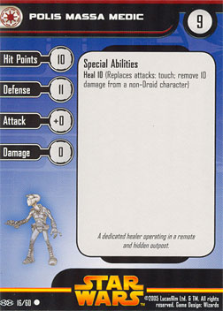Star Wars Miniature Stat Card - Polis Massa Medic, #16 - Common
