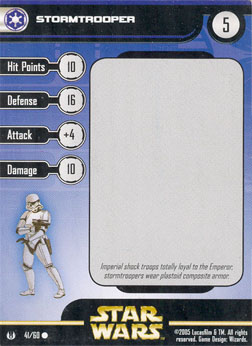 Star Wars Miniature Stat Card - Stormtrooper, #41 - Common