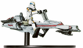 Star Wars Miniature - Clone Trooper on BARC Speeder, #2 - Rare