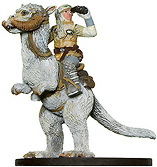 Star Wars Miniature - Luke Skywalker on Tauntaun, #48 - Rare